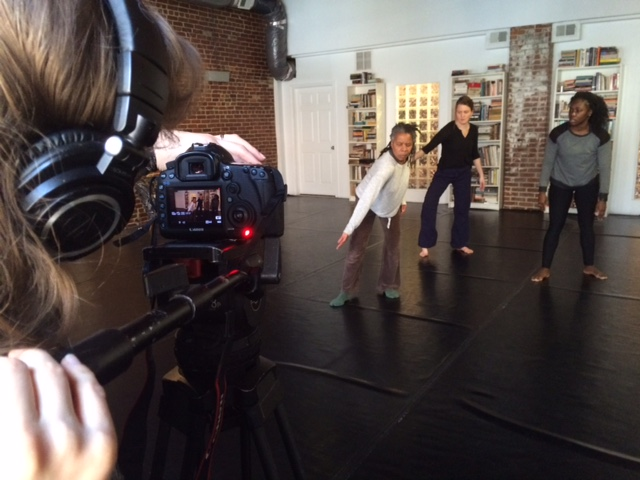 Lily Skove filming Bebe, Angie, and Christal.